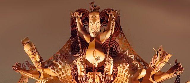 escultura maorí