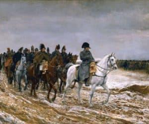 caballos preparados para la batalla de austerlitz