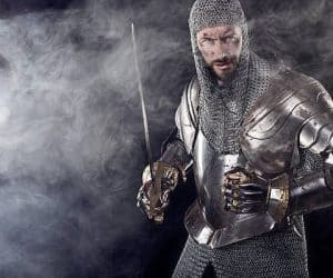 guerreros de la época medieval