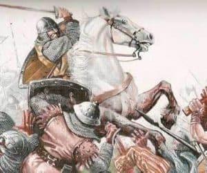 Rodrigo diaz el cid campeador a caballo