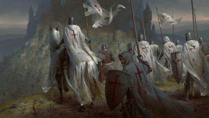 guerreros medievales-caballeros templarios