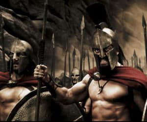 guerreros espartanos