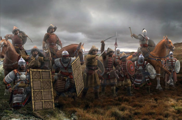 guerreros medievales-mongoles